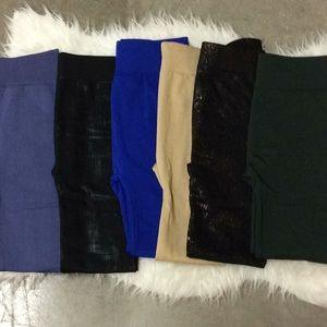 Fleece lined stretch leggings
